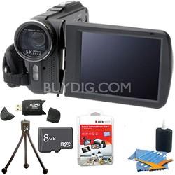 DV5HDZ Slim 1080p Full HD Digital Video Camcorder with Touchscreen Ultimate Kit!