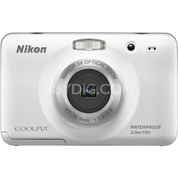 COOLPIX S30 10.1MP 2.7 LCD Waterproof, Shockproof  Camera -White Refurbished