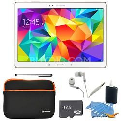 "Galaxy Tab S 10.5"" Tablet - (16GB, WiFi, Dazzling White) 16GB Accessory Bundle"