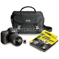 D7000 16.2 MP DSLR w/ NIKKOR 18-200mm DX VR II Lens + Nikon Bag & 16GB Card
