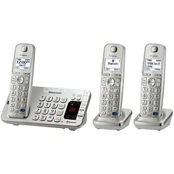 KX-TGE273S Link2Cell Bluetooth Enabled Phone w/Answer 3 Handset + Keypad on Base