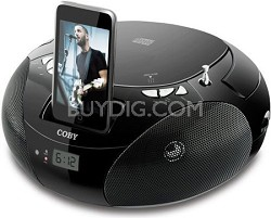 Portable CD Player with AM/FM Radio & I-Pod Docking