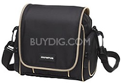 Small Carrying Bag - Black with Beige Trim