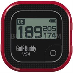 VS4 Golf GPS - Black/Red (GB7-VS4-BLKRED) - OPEN BOX