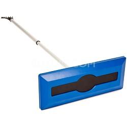 SJBLZD Telescoping Snow Broom with Ice Scraper w/ Auto Locking from 30-49 inch