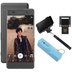 "Xperia XA 16GB 5"" Smartphone Unlocked Mobile Selfie Bundle - Graphite Black"