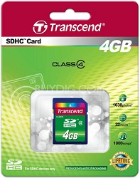 4 GB Secure Digital High-Capacity (SDHC) Class 4  {TS4GSDHC4 }