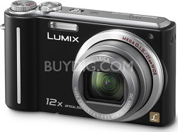DMC-ZS1K LUMIX 10.1 MP Compact Digital Camera with 12x Super Zoom (Black)