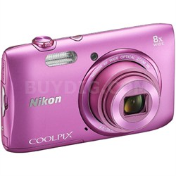 "COOLPIX S3600 20.1MP 2.7"" LCD Digital Camera with HD Video (Pink) REFURBISHED"