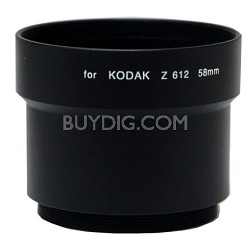 58mm Lens Barrel Adapter For Kodak Z612 / Z712 / Z812