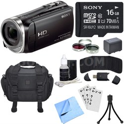 HDR-CX455/B Full HD Handycam Camcorder with Exmor R CMOS Sensor Bundle