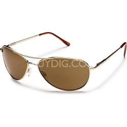 Patrol Sunglasses Gold Frame/Brown Polarized Lens
