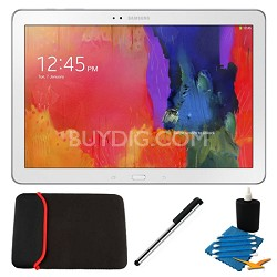 """Galaxy Tab Pro 12.2"""" White 32GB Tablet and Case Bundle"""