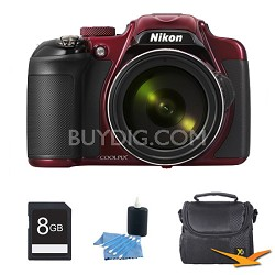 COOLPIX P600 16.1MP Digital Camera Red Kit
