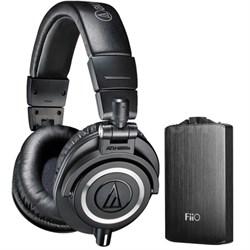 ATH-M50X Professional Studio Headphones & Fiio A3 Amplifier Bundle (Black)