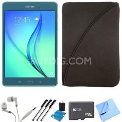 Galaxy Tab A 9.7-Inch Tablet (16 GB, Smoky Blue) 16GB Memory Card Bundle
