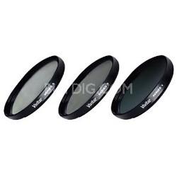 77mm UV, Polarizer & FLD Deluxe Filter kit (set of 3 + carrying case) VIV-FK3-77