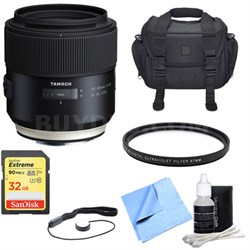 SP 85mm f1.8 Di VC USD Lens for Canon Full-Frame EF Mount Cameras with Bundle