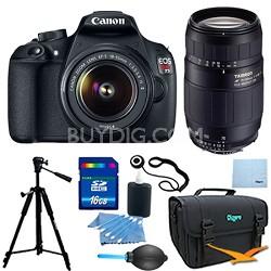 EOS Rebel T5 18MP DSLR Camera w/ 18-55mm & Sigma 70-300mm Lens Zoom Pro Kit