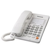 KX-TS105W 1 Line Corded Telephone System with Speakerphone & speed dial