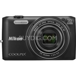 COOLPIX S6800 16MP 1080p HD Video Digital Camera - Black