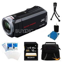 GZ-R30B 8GB Built-In Memory Quad Proof HD Camcorder and 16GB Card Bundle