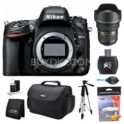 D600 24.3 MP CMOS FX-Format Digital SLR Camera Body 14-24mm Lens Kit