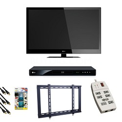 42LV4400 1080p 120Hz 1.8 inch thin LED HDTV + Blu Ray Player Bundle Deal