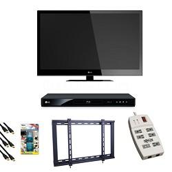 42LV4400 1080p 120Hz 1.8 inch thin LED HDTV + Blu Ray Player Bundle Deal