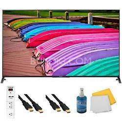 "55"" 3D 4K UHD TV Motionflow XR 240 Smart TV Plus Hook-Up Bundle - XBR55X850B"