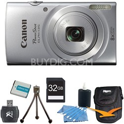 PowerShot ELPH 135 16MP 8x Optical Zoom Digital Camera Silver Kit