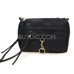 Crossbody PU Bag with Front Hook (Black) - 3005BLK