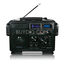 Portable Battery Powered Stereo with USB / SD Card Inputs Black