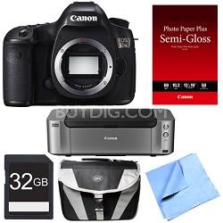 EOS 5DS 50.6MP Digital SLR Camera (Body Only) Printer Bundle