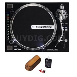 Advanced Hybrid Torque Turntable Black + D4+ Vinyl Record Cleaning System