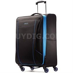 "Skylite 25"" Black / Blue Spinner Luggage"