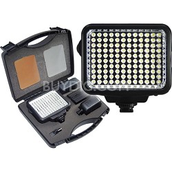 10-Piece Pro Photo/Video LED Light Kit with Battery, Charger, Diffusers & Case