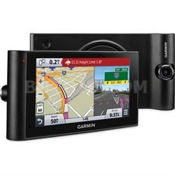 "dezlCam LMTHD 6"" GPS Truck Navigator w/ Dash Cam + Lifetime Map/Traffic Updates"