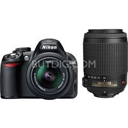 D3100 14MP DX-format Digital SLR Kit w/ 18-55mm and 55-200mm Lenses