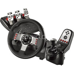 G27 16 Button Racing Wheel, Pedals and Gear Shift Lever Set PC Game