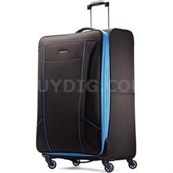 "Skylite 29"" Black / Blue Spinner Luggage"
