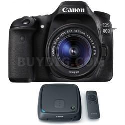 EOS 80D CMOS Digital SLR Camera w/ EF-S 18-55mm Lens + 1TB CS100 Storage Hub