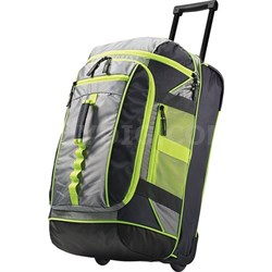 21 Inches Franklin Lakes Polyester Fabric Wheeled Duffel (Grey/Green) 79514-2983