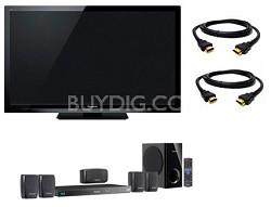 """42"""" VIERA Full HD (1080p) LED TV - TC-L42E3 + BTT270 Home Theater System Bundle"""