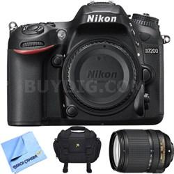 D7200 DX 24.2MP Digital SLR Camera w/ NIKKOR 18-140mm Lens - Refurbished Bundle