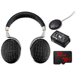 Zik 3 Wireless Noise Cancelling Bluetooth Headphone Ultimate Bundle (Black Croc)