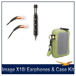 Image X10i In-Ear Headset with Mic and 3-Button Remote Headphones Bonus Pack