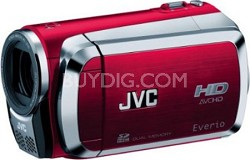 Everio GZ-HM200 Dual SD High-Def Camcorder (Red) - OPEN BOX
