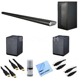 LAS751M - 360 Watt 4.1 Channel Smart Soundbar + 2 NP8340 Wireless Speakers