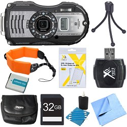 WG-5 GPS 16MP Digital Camera Gunmetal Gray 32GB Bundle